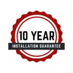 A 10 year installation guarantee