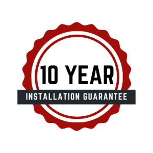 A 10 year installation guarantee