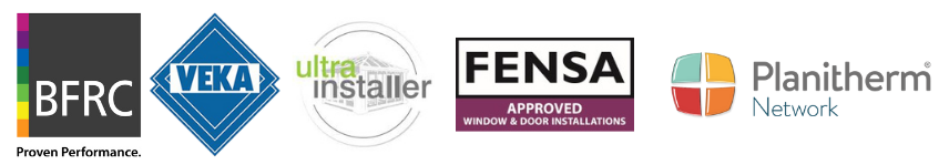 A list of window credential from FENSA, GGFI, VEKA, BFRC, Planitherm, Ultra Installer